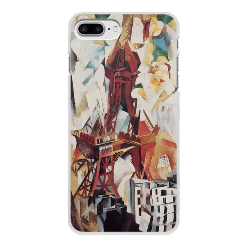 Фото - Printio Чехол для iPhone 8 Plus, объёмная печать Эйфелева башня (робер делоне) printio чехол для iphone x xs объёмная печать бесконечный ритм робер делоне