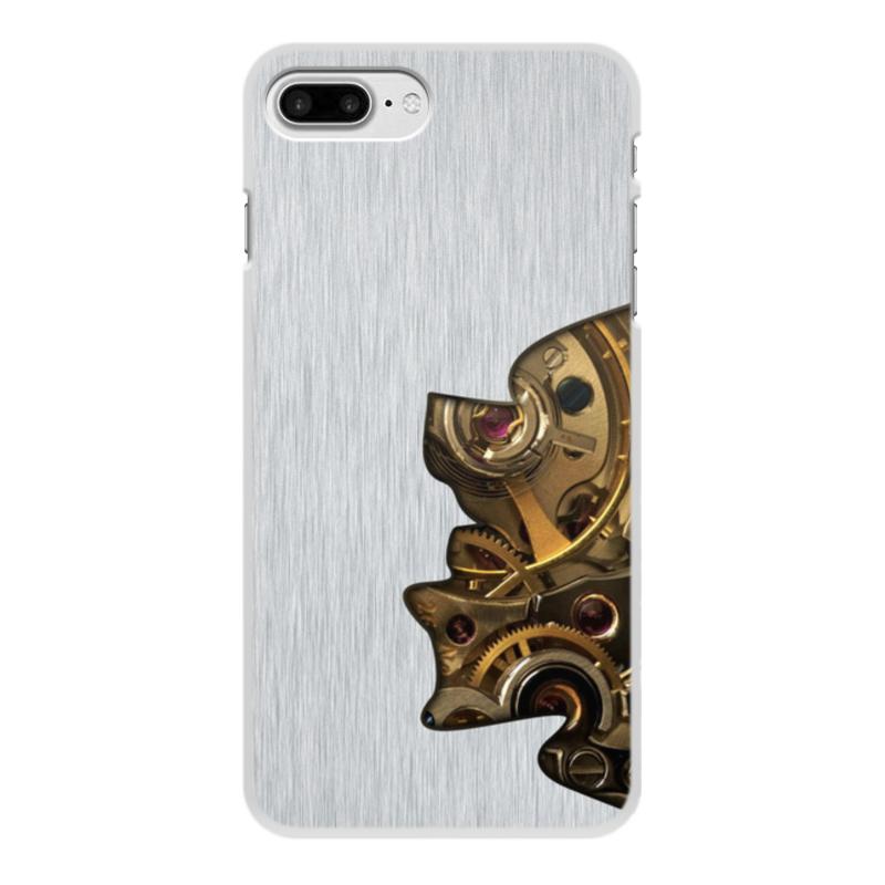 Printio Чехол для iPhone 8 Plus, объёмная печать Внутренний мир телефона (шестеренки).