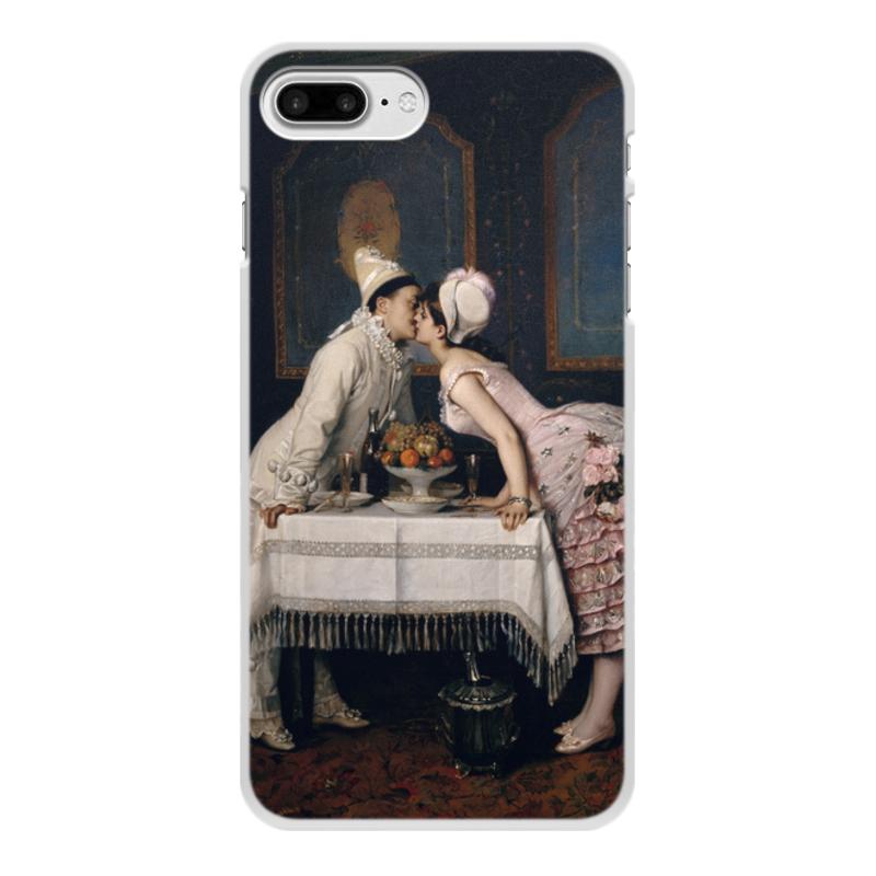 Фото - Printio Чехол для iPhone 8 Plus, объёмная печать Поцелуй (картина огюста тульмуша) printio чехол для iphone 7 plus объёмная печать поцелуй картина климта