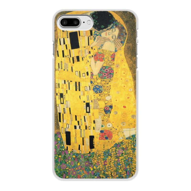 Фото - Printio Чехол для iPhone 8 Plus, объёмная печать Поцелуй (картина климта) printio чехол для iphone 7 plus объёмная печать поцелуй картина климта