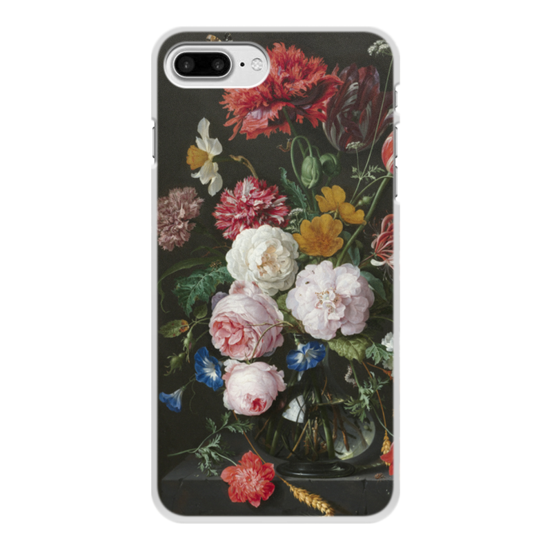 Printio Чехол для iPhone 8 Plus, объёмная печать Цветочный букет в стеклянной вазе (ян де хем)