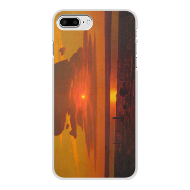 Фото - Printio Чехол для iPhone 8 Plus, объёмная печать Красный закат (картина архипа куинджи) printio тетрадь на скрепке берёзовая роща картина архипа куинджи