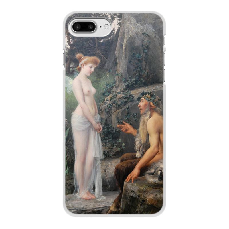 Фото - Printio Чехол для iPhone 8 Plus, объёмная печать Пан утешает психею (эрнст климт) printio чехол для iphone 7 plus объёмная печать поцелуй картина климта