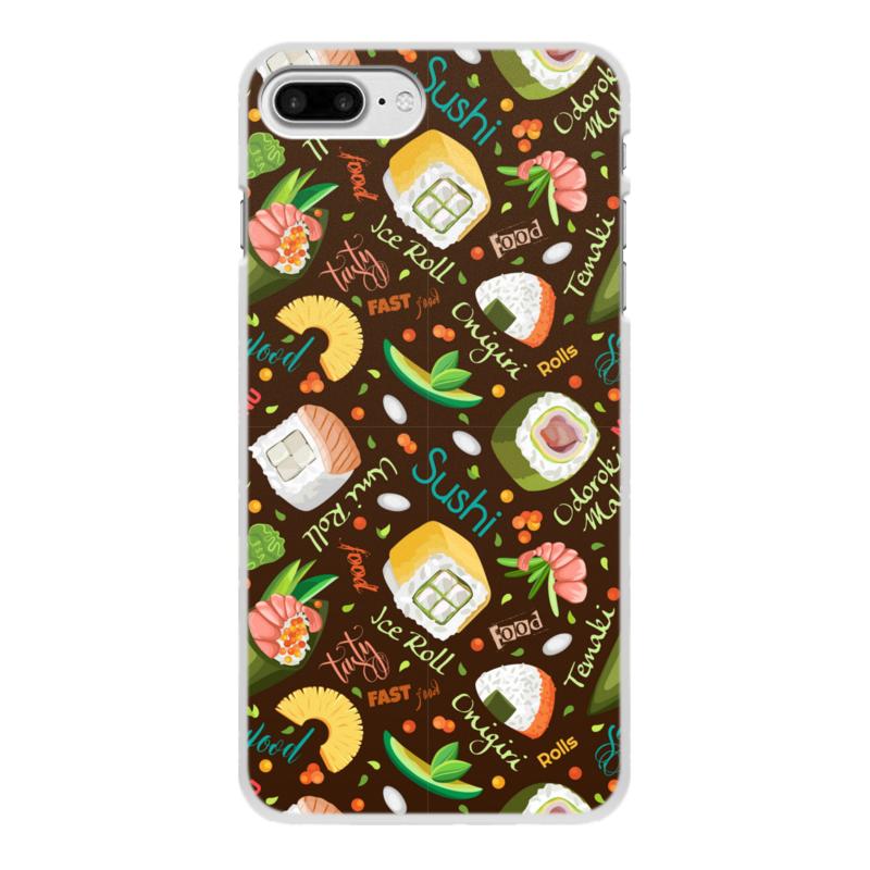 Printio Чехол для iPhone 8 Plus, объёмная печать Много суши
