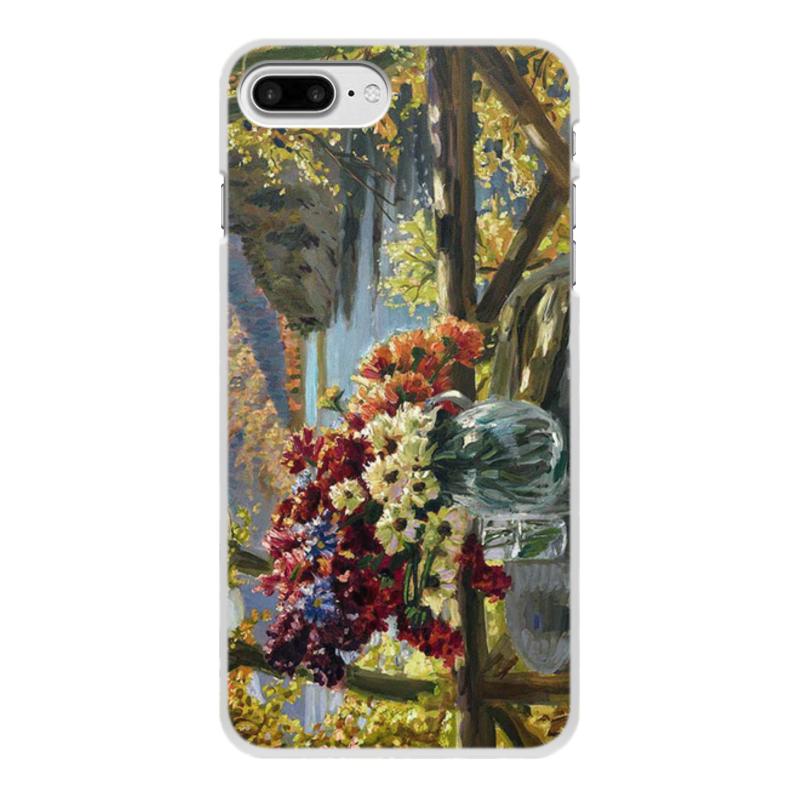 Фото - Printio Чехол для iPhone 8 Plus, объёмная печать Цветы на фоне озера (картина вещилова) printio чехол для iphone 7 plus объёмная печать цветы на фоне озера картина вещилова