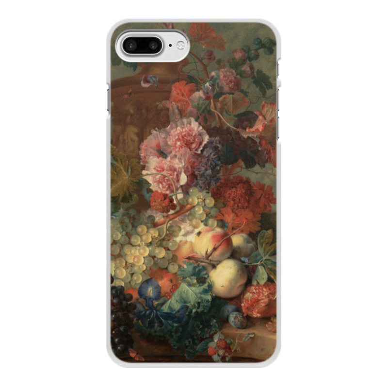 Printio Чехол для iPhone 8 Plus, объёмная печать Цветы (ян ван хёйсум) printio чехол для iphone 5 5s объёмная печать цветочный натюрморт ян ван хёйсум