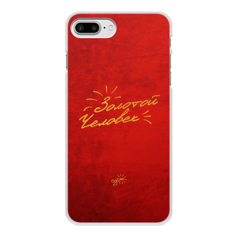Printio Чехол для iPhone 8 Plus, объёмная печать Золотой человек - ego sun printio чехол для iphone 8 plus объёмная печать золотое поколение ego sun