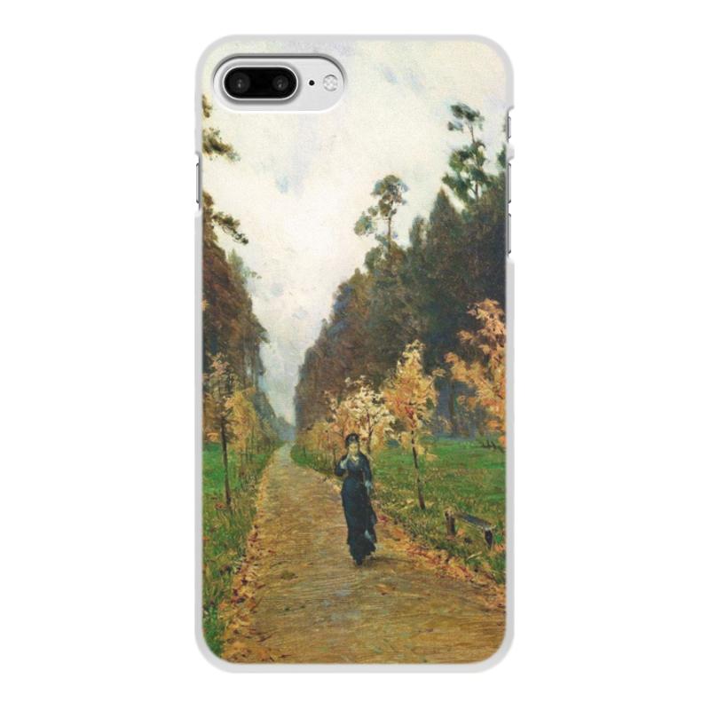 Printio Чехол для iPhone 8 Plus, объёмная печать Осенний день. сокольники (левитан)