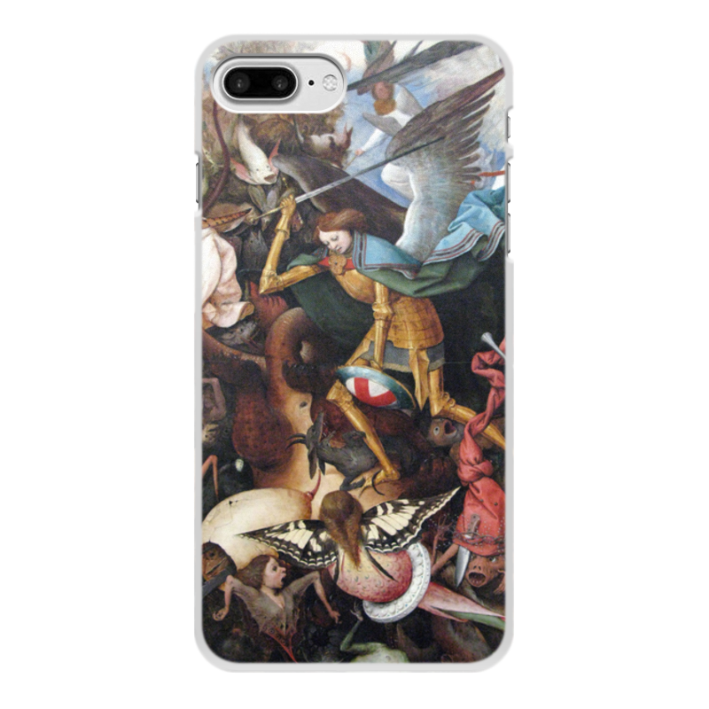 Printio Чехол для iPhone 8 Plus, объёмная печать Архангел михаил (картина брейгеля)