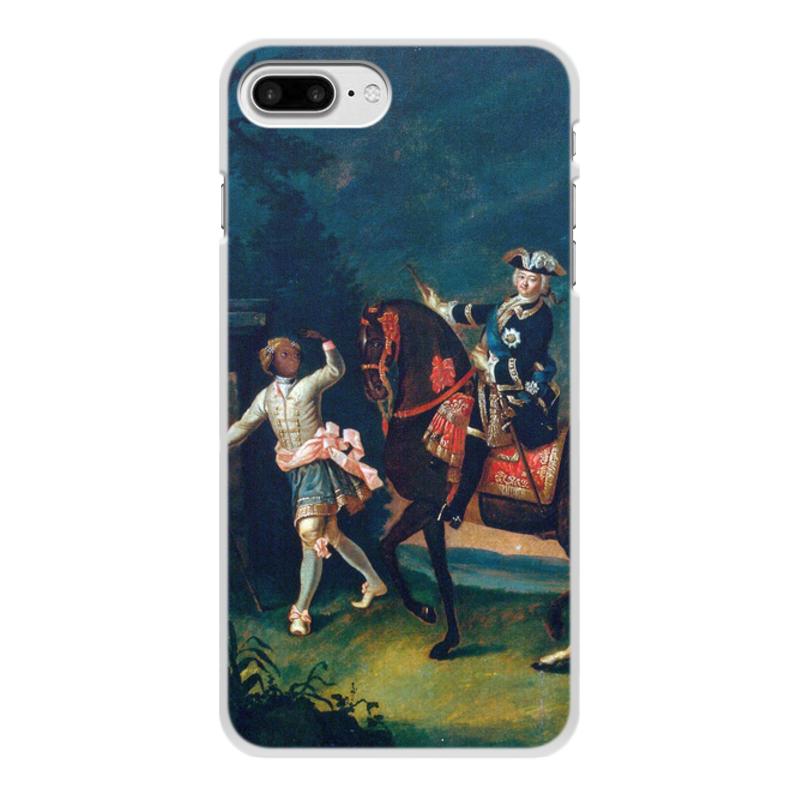 Printio Чехол для iPhone 8 Plus, объёмная печать Конный портрет елизаветы петровны с арапчонком