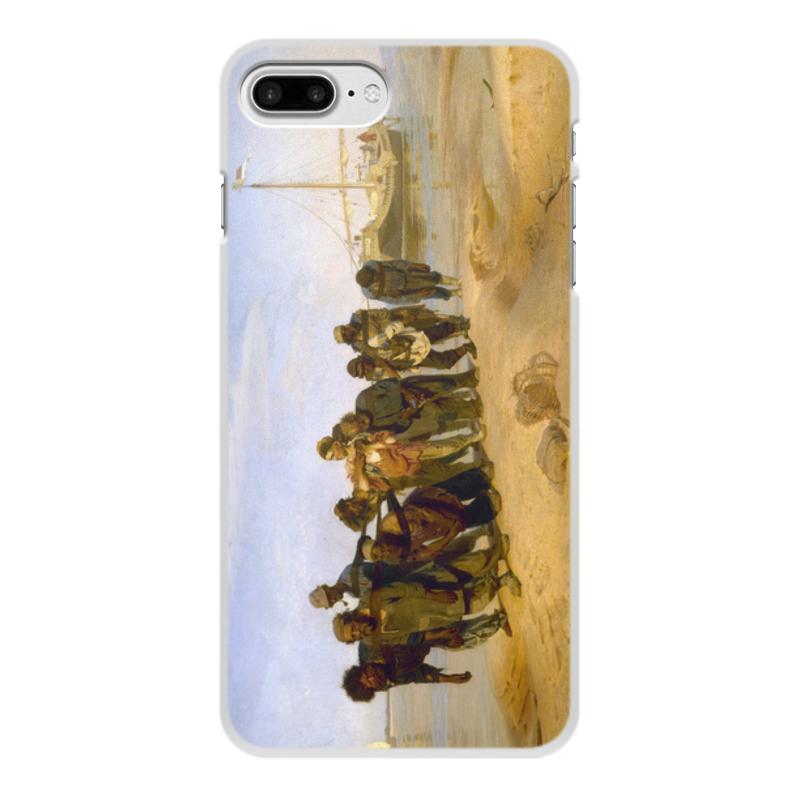 Printio Чехол для iPhone 8 Plus, объёмная печать Бурлаки на волге (картина ильи репина)