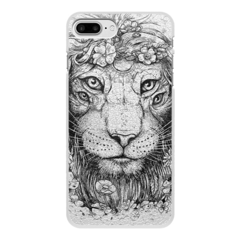 Printio Чехол для iPhone 8 Plus, объёмная печать Царь природы
