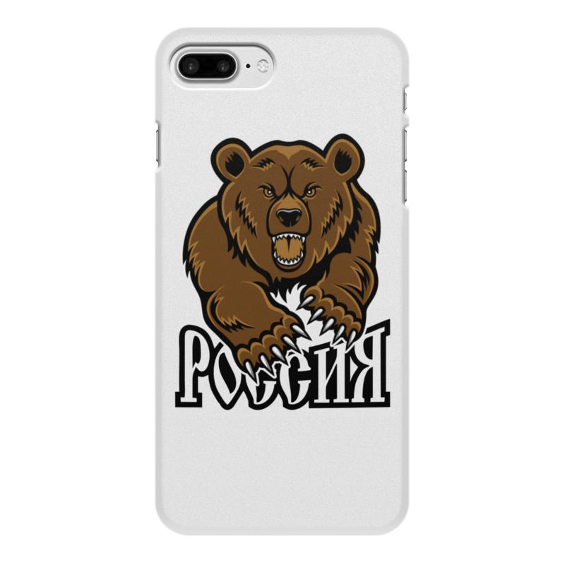 Printio Чехол для iPhone 8 Plus, объёмная печать Медведь. символика