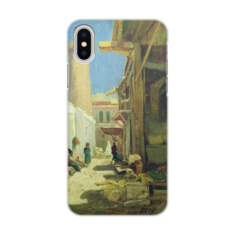 Printio Чехол для iPhone X/XS, объёмная печать Баку. улица в полдень (алексей боголюбов)