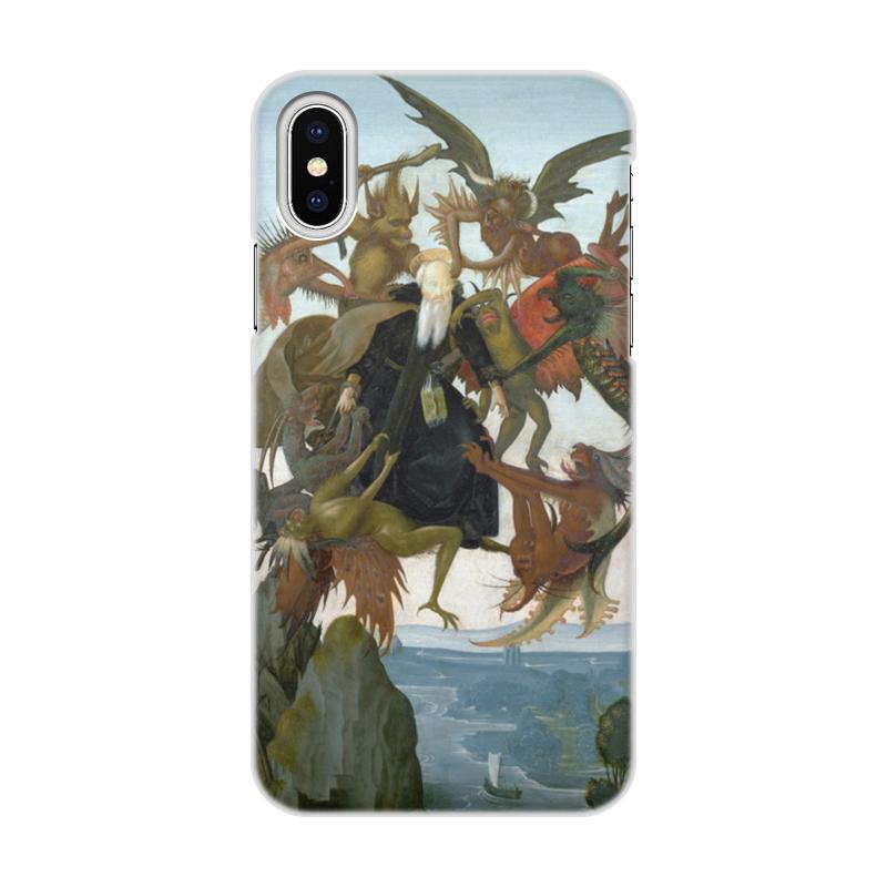 Printio Чехол для iPhone X/XS, объёмная печать Мучения святого антония (микеланджело)
