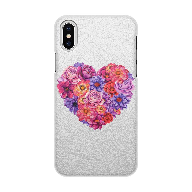 Printio Чехол для iPhone X/XS, объёмная печать Сердце printio чехол для iphone x xs объёмная печать яблоко