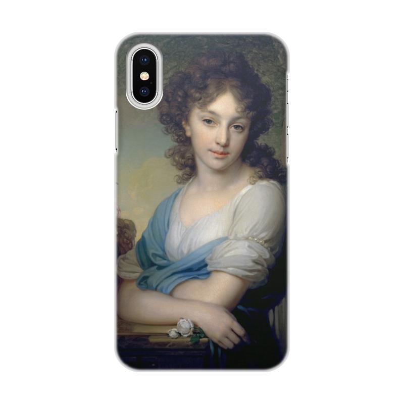Фото - Printio Чехол для iPhone X/XS, объёмная печать Портрет е.а.нарышкиной (кисти боровиковского) printio чехол для iphone x xs объёмная печать портрет молодой женщины боттичелли