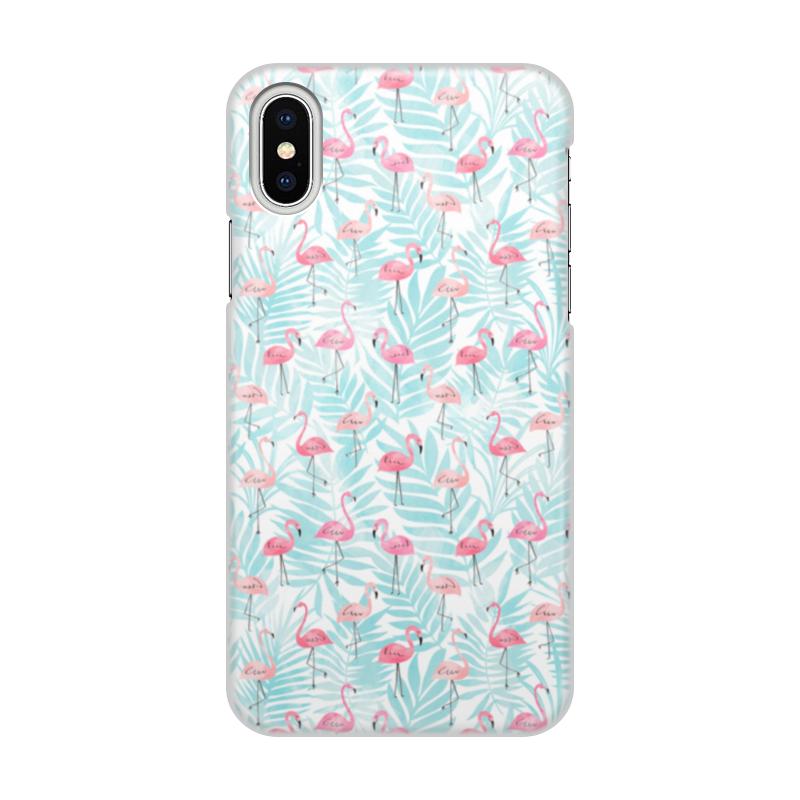 Printio Чехол для iPhone X/XS, объёмная печать Фламинго printio чехол для iphone x xs объёмная печать яблоко