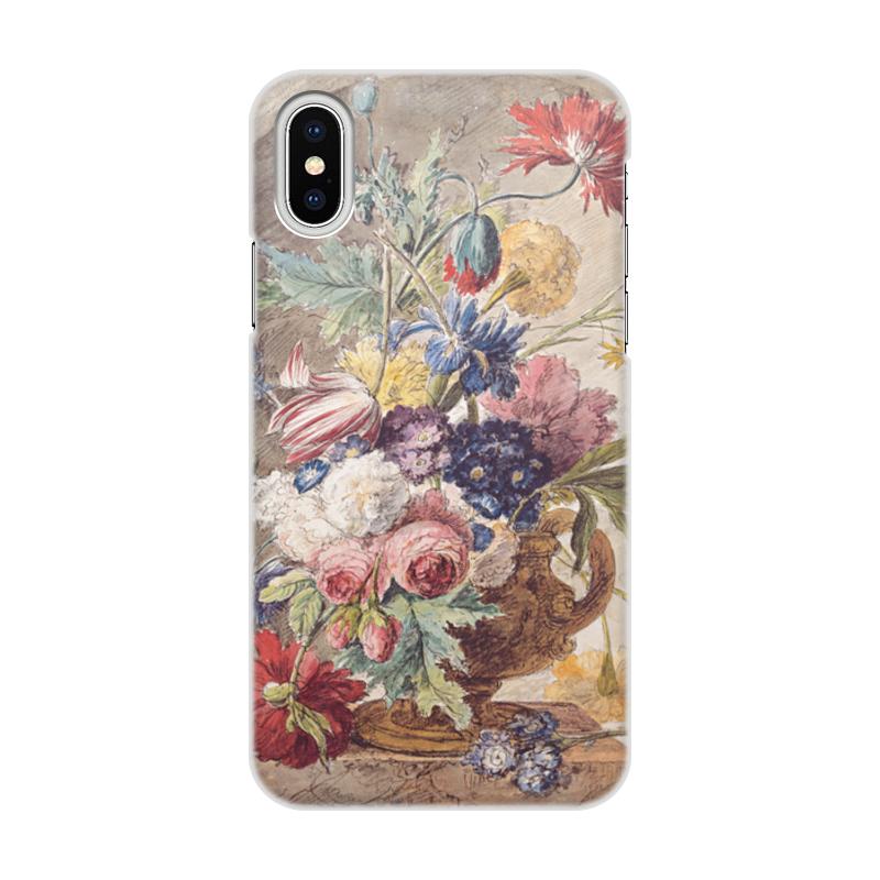 Printio Чехол для iPhone X/XS, объёмная печать Цветочный натюрморт (ян ван хёйсум) printio открытка цветочный натюрморт ян ван хёйсум