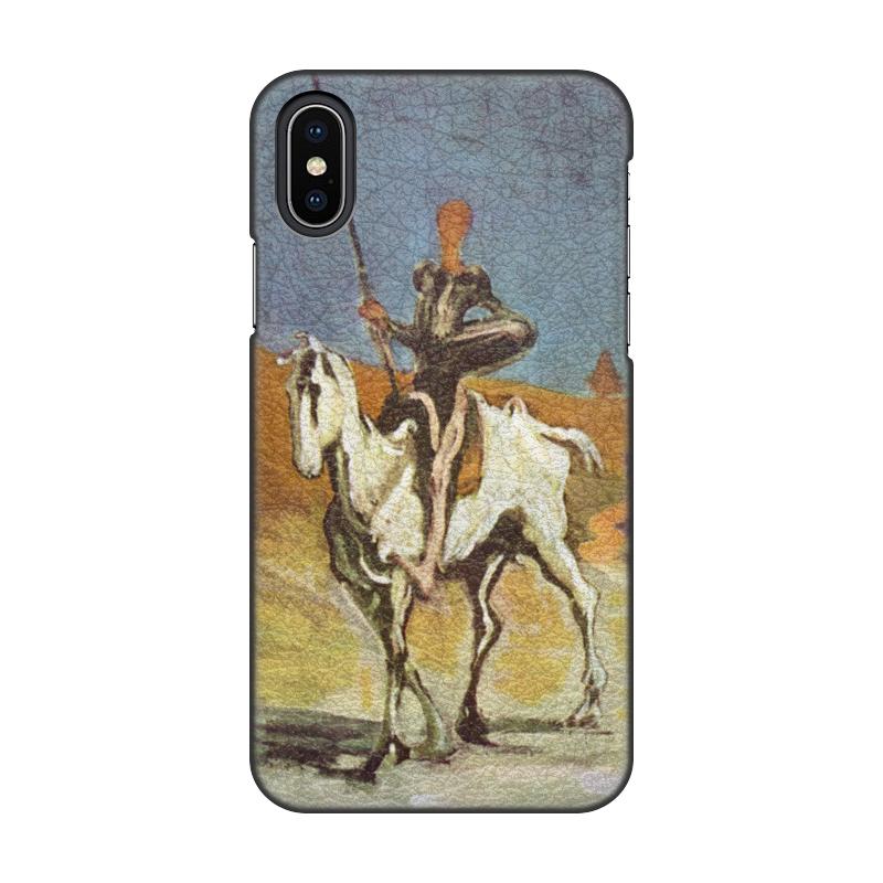 Printio Чехол для iPhone X/XS, объёмная печать Дон кихот (картина оноре домье) printio чехол для iphone 8 plus объёмная печать дон кихот картина оноре домье