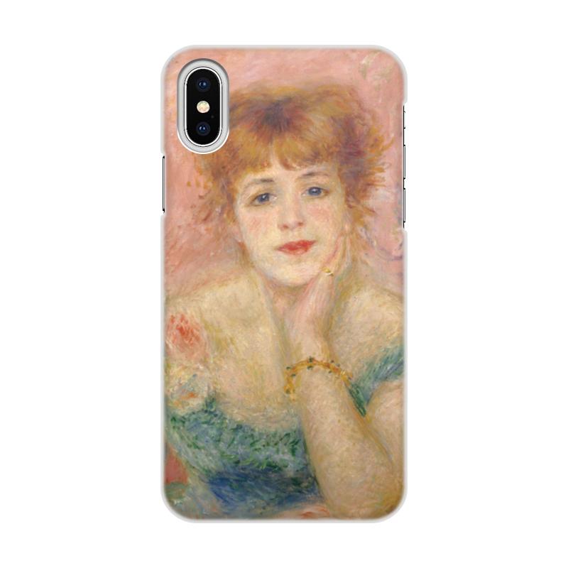 Фото - Printio Чехол для iPhone X/XS, объёмная печать Портрет актрисы жанны самари (ренуар) printio чехол для iphone x xs объёмная печать портрет молодой женщины боттичелли