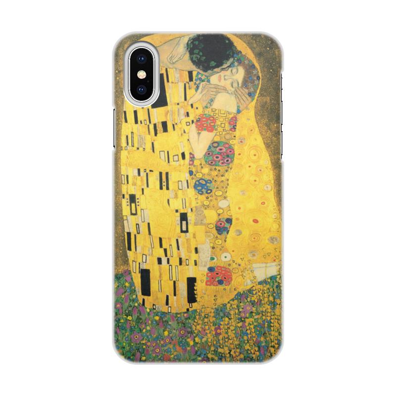 Фото - Printio Чехол для iPhone X/XS, объёмная печать Поцелуй (картина густава климта) printio чехол для iphone 7 plus объёмная печать поцелуй картина климта