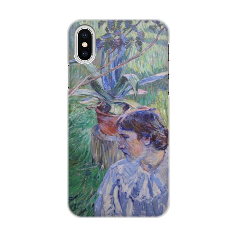 Printio Чехол для iPhone X/XS, объёмная печать Девушка с агавой (виктор борисов-мусатов)