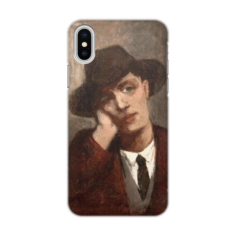 Фото - Printio Чехол для iPhone X/XS, объёмная печать Портрет амедео модильяни (кисти жанны эбютерн) printio чехол для iphone x xs объёмная печать портрет молодой женщины боттичелли