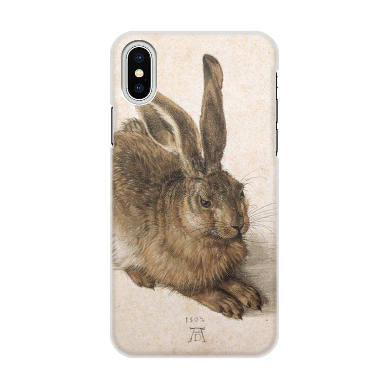 Printio Чехол для iPhone X/XS, объёмная печать Заяц (альбрехт дюрер)
