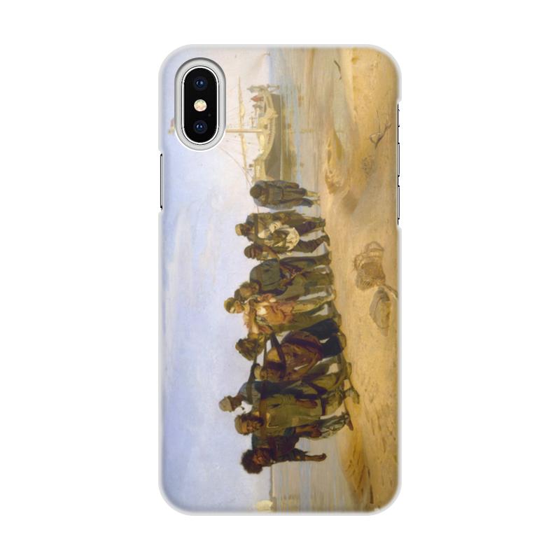 Printio Чехол для iPhone X/XS, объёмная печать Бурлаки на волге (картина ильи репина)