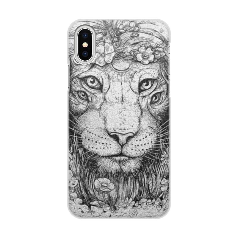 Printio Чехол для iPhone X/XS, объёмная печать Царь природы