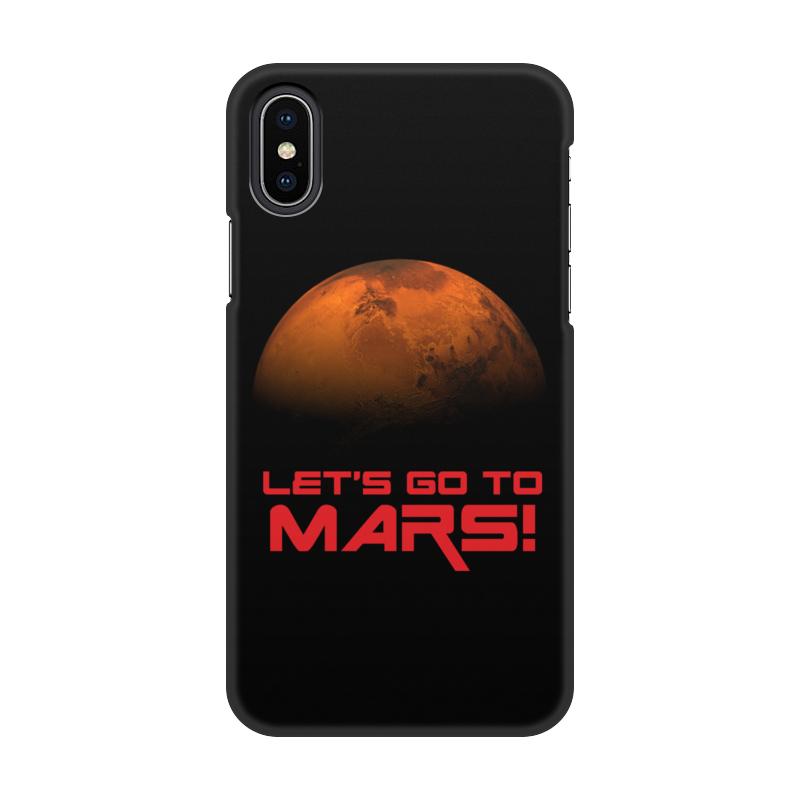 Printio Чехол для iPhone X/XS, объёмная печать Let's go to mars!