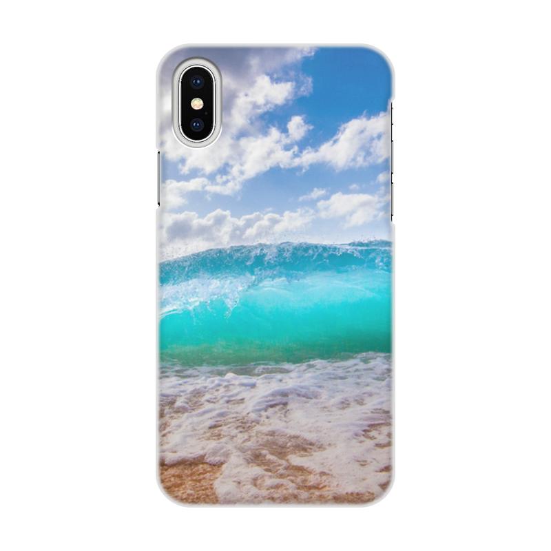 Printio Чехол для iPhone X/XS, объёмная печать Sea wave