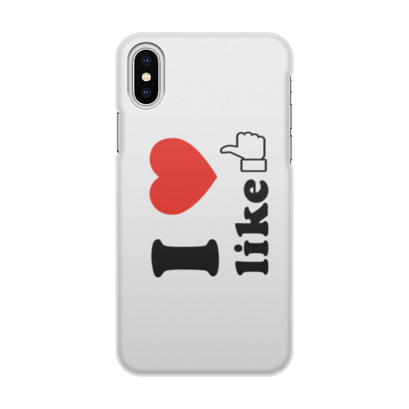 Printio Чехол для iPhone X/XS, объёмная печать I love like