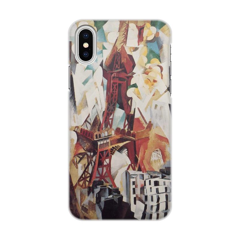 Фото - Printio Чехол для iPhone X/XS, объёмная печать Эйфелева башня (робер делоне) printio чехол для iphone x xs объёмная печать бесконечный ритм робер делоне