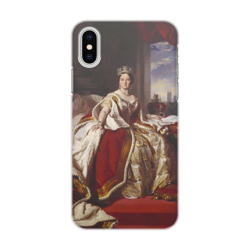 Printio Чехол для iPhone X/XS, объёмная печать Портрет королевы великобритании виктории