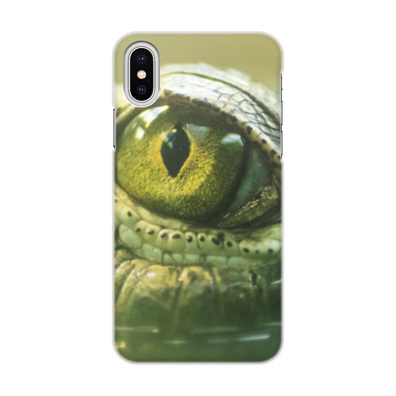 Printio Чехол для iPhone X/XS, объёмная печать Рептилии