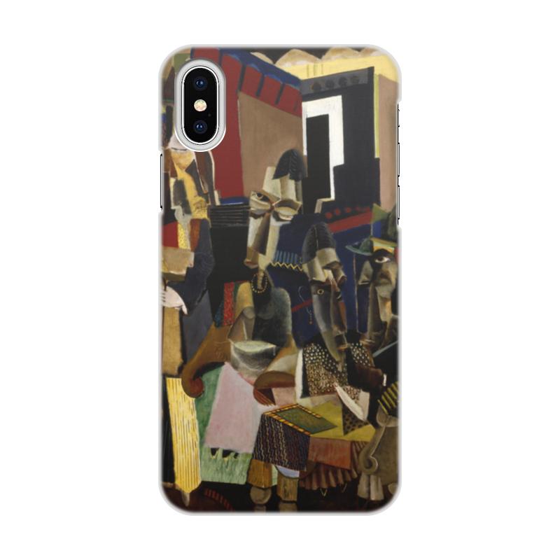 Printio Чехол для iPhone X/XS, объёмная печать Визит (макс вебер)