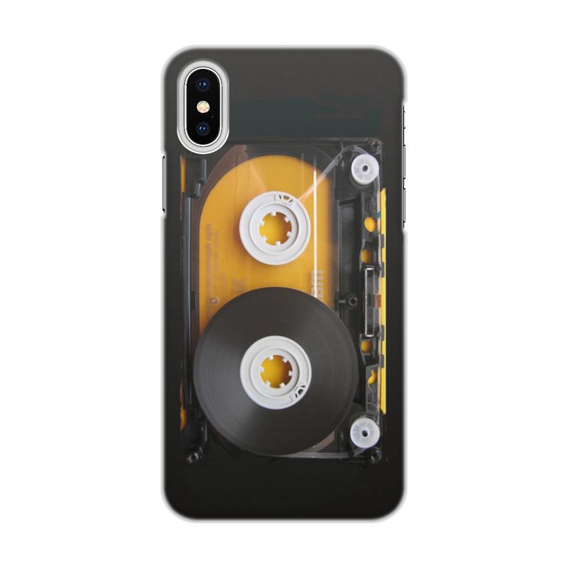 Printio Чехол для iPhone X/XS, объёмная печать Дизайн аудиокассета