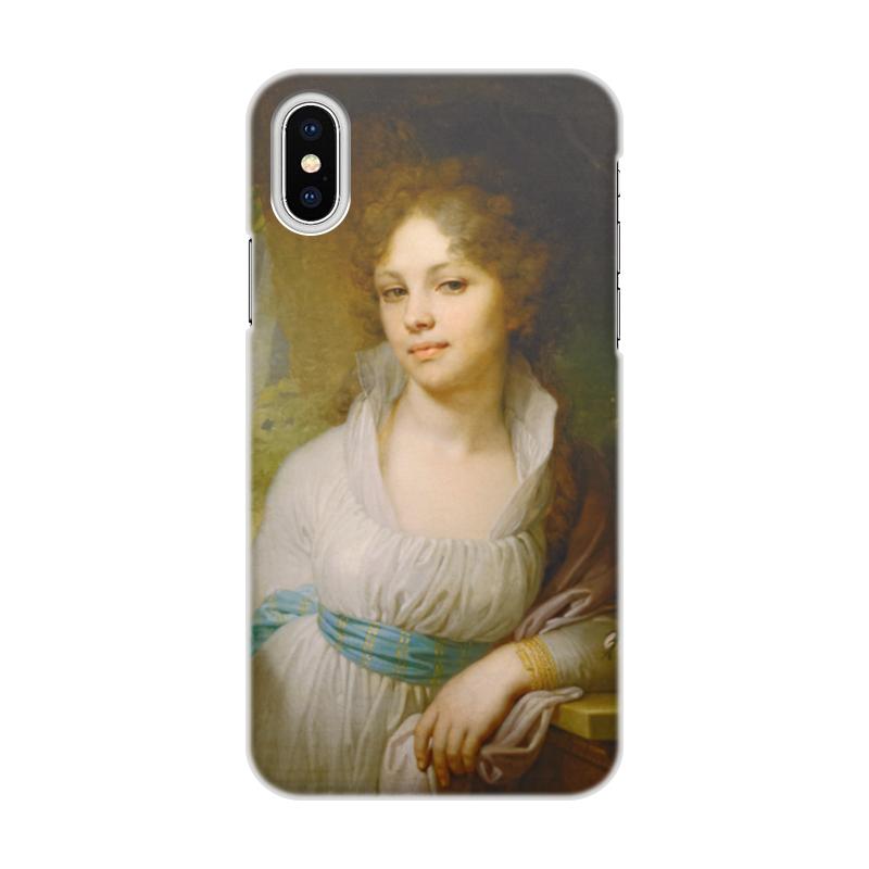 Фото - Printio Чехол для iPhone X/XS, объёмная печать Портрет марии лопухиной printio чехол для iphone x xs объёмная печать портрет молодой женщины боттичелли