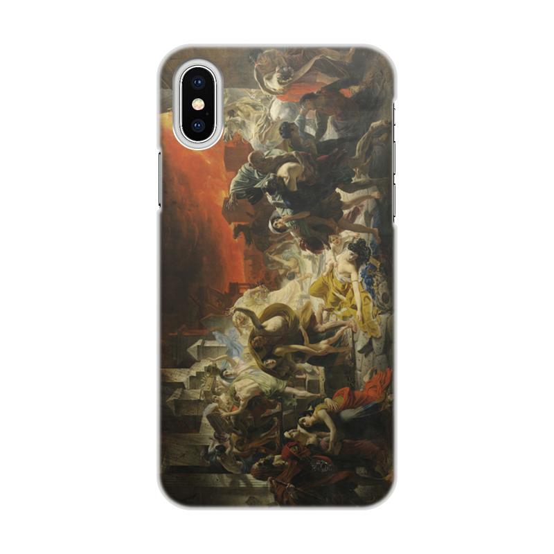 Printio Чехол для iPhone X/XS, объёмная печать Последний день помпеи (картина брюллова)