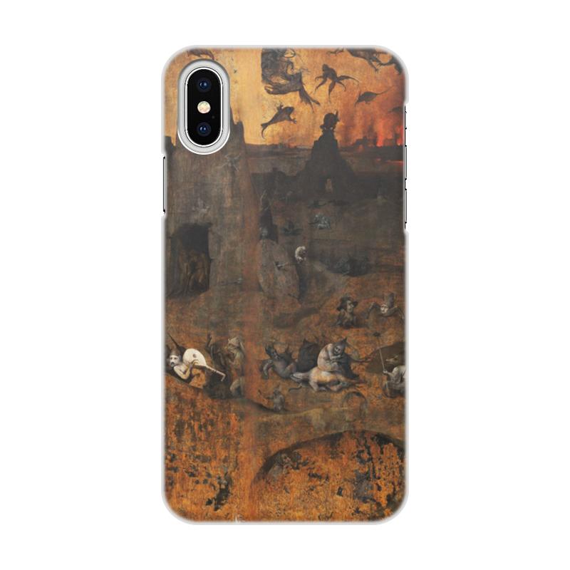 Фото - Printio Чехол для iPhone X/XS, объёмная печать Ад (ад и потоп (створки алтаря иеронима босха)) printio чехол для samsung galaxy s8 plus объёмная печать ад ад и потоп створки алтаря иеронима босха