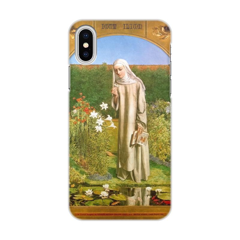 Printio Чехол для iPhone X/XS, объёмная печать Мысли монахини (чарльз олстон коллинз)