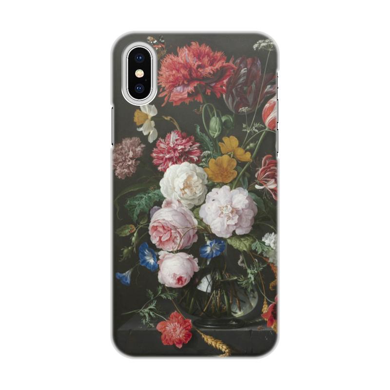 Printio Чехол для iPhone X/XS, объёмная печать Цветочный букет в стеклянной вазе (ян де хем)
