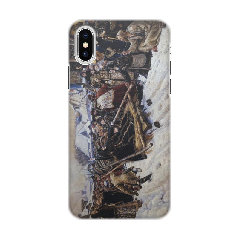 Printio Чехол для iPhone X/XS, объёмная печать Боярыня морозова (картина в. и. сурикова)