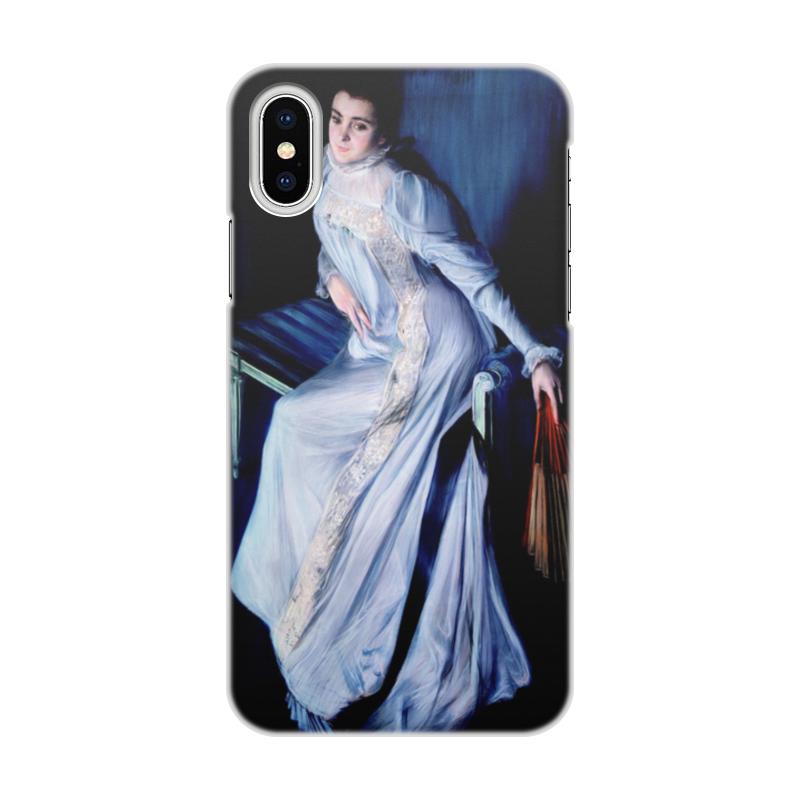 Фото - Printio Чехол для iPhone X/XS, объёмная печать Портрет евгении нучи де эррацурис printio чехол для iphone x xs объёмная печать портрет молодой женщины боттичелли