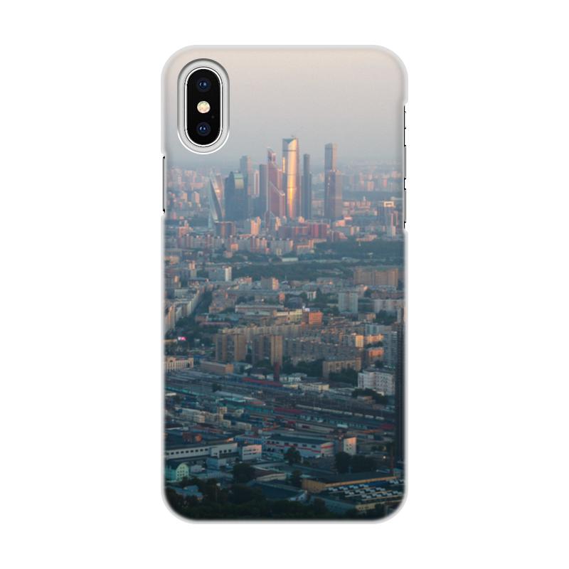 Printio Чехол для iPhone X/XS, объёмная печать Москва с высоты