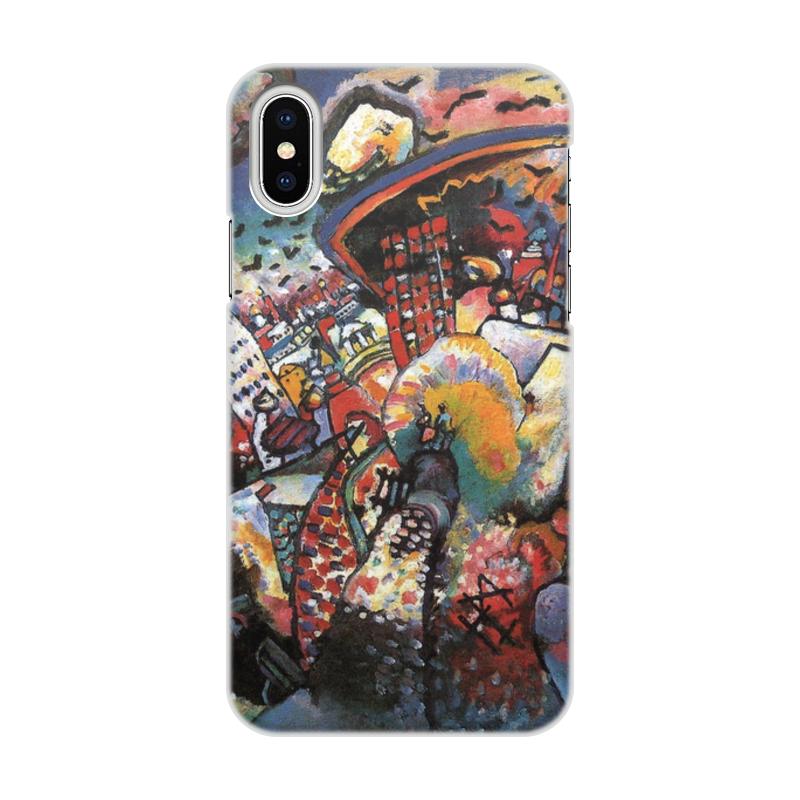 Printio Чехол для iPhone X/XS, объёмная печать Москва. красная площадь. (картина кандинского)