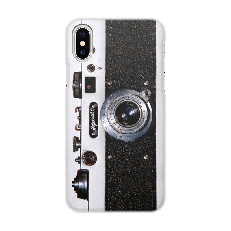 Printio Чехол для iPhone X/XS, объёмная печать Дизайн фотоаппарат зоркий 5