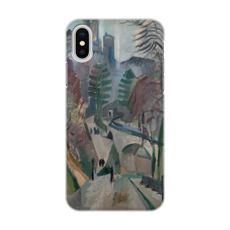 Фото - Printio Чехол для iPhone X/XS, объёмная печать Пейзаж в лаоне (робер делоне) printio чехол для iphone x xs объёмная печать бесконечный ритм робер делоне
